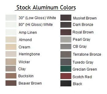Warren MI Aluminum Gutter Colors